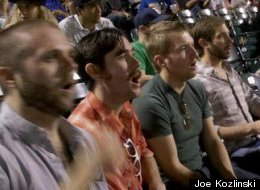 Some hipsters at a Brooklyn Cyclones game last summer.