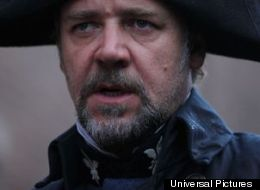 Russell Crowe looks a little ridiculous as Javert in