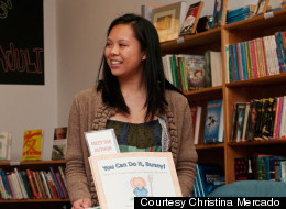 Christina Mercado at her book reading for