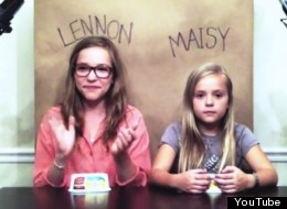 Two adorable kid sisters, Lennon, 12, and Maisy, 8, cover Robyn's