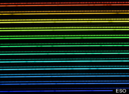 Alien planets may be easier to spot using new 'laser comb.' This picture illustrates part of a spectrum of a star obtained using the HARPS instrument on the ESO 3.6-meter telescope at the La Silla Observatory in Chile.