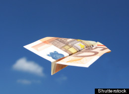 Russia's Mark Zuckberg threw paper planes made out of money on to St Petersburg crowds
