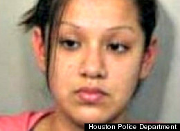 Police in Texas say Stephanie Santana's desire for an early morning piercing landed her in hot water Wednesday.