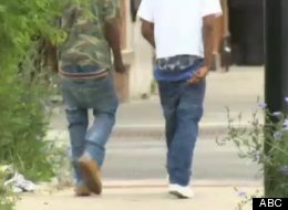 Aldermen want to institute uniforms to prevent students from wearing their pants like this. (ABC)