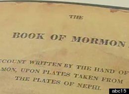 An 1830 first- edition of Book of Mormon stolen from Mesa bookstore.