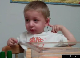 Two-year-old Cooper hears his mom's voice for the first time.