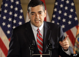Rep. David Rivera (R-Fla.) speaks to reporters in 2010.