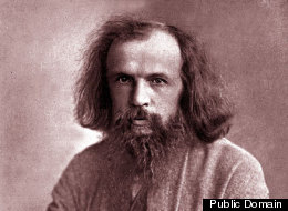 Dmitry Mendeleev, Russian chemist who first devised the periodic table of elements.