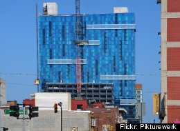 The Greektown Casino-Hotel, pictured, has a construction project underway building a multimillion dollar valet parking garage with 850 spots and a planned upscale restaurant for the ground floor.