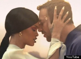 A still from Coldplay and Rihanna's new video for