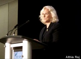 Actress Glenn Close told an international conference on the stigma surrounding mental illness Monday that she believes the character she made famous in Fatal Attraction was suffering from a mental illness. (Althia Raj/ The Huffington Post)