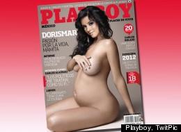 Dorismar, con cinco meses de embarazo, es la portada de Playboy México