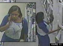 An unidentified woman was caught on tape stealing a cat out of its cage in a Minnesota pet store.