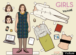 Printable paper dolls to tied you over after the first season of 'Girls' wraps up.