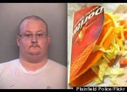 Travis Wilbur, a jailer in Indiana, was arrested for allegedly trafficking drugs to inmates inside Taco Bell wrappers.