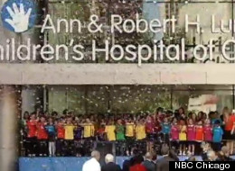 The Lurie Children's Hospital held a ribbon-cutting ceremony Monday.