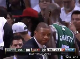 Doc Rivers gets emotional at the end of Game 7.