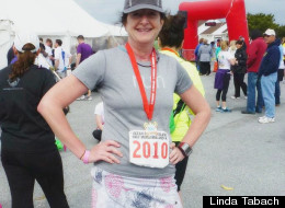 Linda Tabach, 52, in 2012, after losing 40 pounds through diet and exercise.