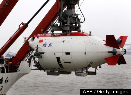 This photo taken on July 1, 2011 shows the Chinese submersible