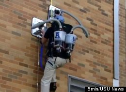 Students at Utah State University have invented the Personal Vacuum Assisted Climber (PVAC) which turns anyone into a wall-walker on par with Spider-Man.