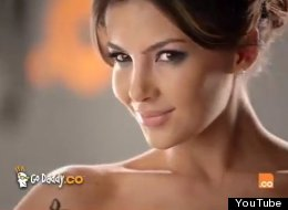 Model Natalia Velez in a Super Bowl 2012 ad.