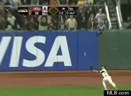 Gregor Blanco helped Matt Cain preserve a perfect game with an outstanding catch.
