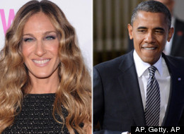 Obama's campaign adds Sarah Jessica Parker and Mariah Carey to its support list.