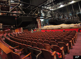Dolby Atmos being installed in the Dolby Theatre.