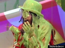 Nickelodeon stars get slimed on the 2012