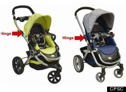 An amputation hazard prompts a voluntary stroller recall in the U.S. and Canada