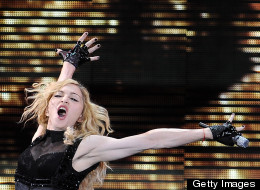 Madonna during an MDNA tour stop