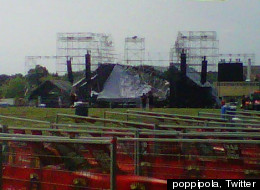 A stage has collapsed at Toronto's Downsview Park ahead of a Radiohead concert. (poppipola, Twitter)