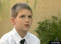 Bradley Mitchell, 10, saved his siblings and mother after a December, 2011, car crash.