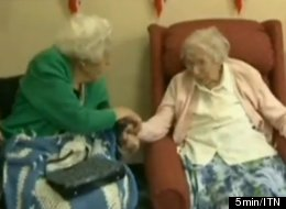 Marjorie Ruddle, 105 (left), and her sister, Dorothy Richards, 108, just set a Guinness record for world's oldest siblings.