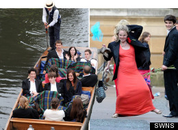 Cambridge students at their Trinity May Ball
