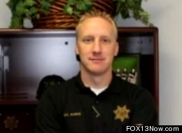 Cody Harris, a Utah officer who was fired after he dropped his pants while performing a skit at a local school, has been reinstated to his job.