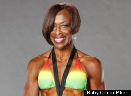 Ruby Carter-Pikes shows off off her amazing body and fitness competition awards.
