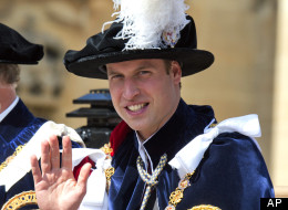 Britain's Prince William attends the annual Order of the Garter Service at St George's Chapel, Windsor Castle, Windsor, England Monday June 18, 2012.