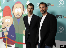 In this Sept. 20, 2011 photo, Matt Stone, left, and Trey Parker, co-creators of