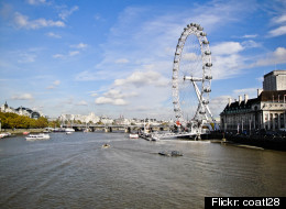 The London Eye, one of the world's largest ferris wheels.
