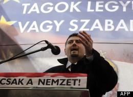 L'eurodéputé Csanad Szegedi, un des dirigeants du parti d'extrême droite hongrois Jobbik