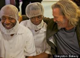 Actor-activist Jeff Bridges visited Greyston Bakery recently.
