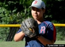 Nadia Diaz of Syracuse struck out 19 batters in a little league championship game.