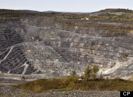 The Jeffrey open-pit asbestos mine is shown on October 7, 2011 in Asbestos Que. THE CANADIAN PRESS/Jacques Boissinot
