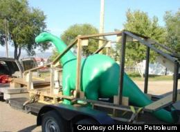This fiberglass dinosaur was reported missing from a Montana truck stop on June 21.
