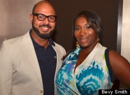 Emil Wilbekin and Bevy Smith fete the launch of