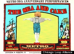 The Sea and Cake poster, from 'Metrospective.'