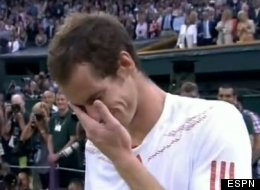 Andy Murray delivers emotional speech after losing to Roger Federer in Wimbledon final.