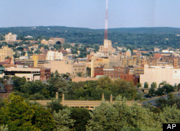 In this undated photo provided by Scranton Tomorrow, a view of the city of Scranton, Pa. is shown.