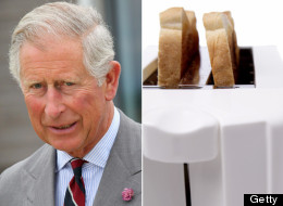 A piece of toast left uneaten by Prince Charles on the morning of his wedding to Princess Diana in 1981 is to be auctioned this month